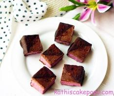 Erdbeereis-Brownies