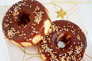 Weihnachtsliche Baileys Donuts